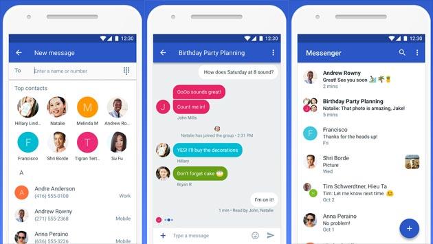 Google Messenger diventa Messaggi Android