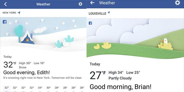 Facebook lancia sezione Meteo con previsioni del tempo
