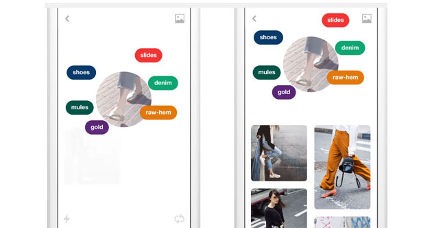Pinterest Lens, Instant Ideas e Shop the Look con la Visione Artificiale riconoscono gli oggetti
