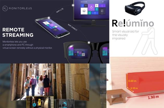 Samsung C-Lab al MWC 2017 con i progetti VR creativi Relumino, Monitorless, VuildUs, traVRer