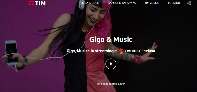 TIM Giga e Music: 2GB e musica in streaming senza consumare Giga