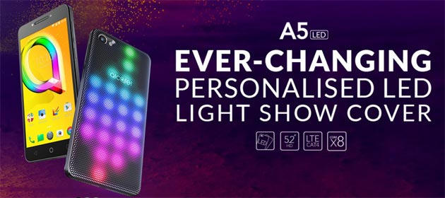 Alcatel A5 LED, Alcatel A3, Alcatel U5 e Plus 12: Disponibilita' in Italia