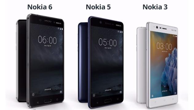 Nokia 6, Nokia 5, Nokia 3 ufficiali al MWC: Specifiche, Foto, Video, Prezzi