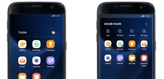 Samsung Secure Folder disponibile su Galaxy S7 e S7 edge