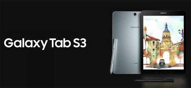 Samsung Galaxy Tab S3 ufficiale: Specifiche, Foto, Video, Prezzi