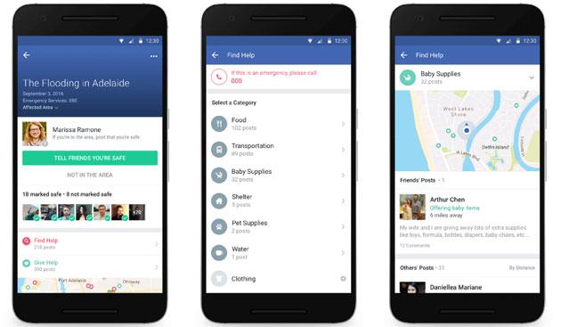 Facebook Community Help aiuta le persone in situazioni di crisi
