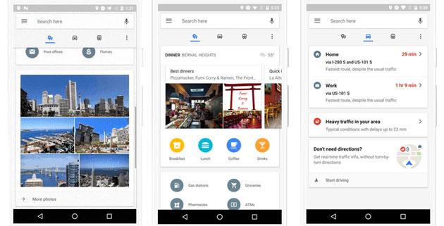 Google Maps riprogetta Luoghi, Guida e Transito