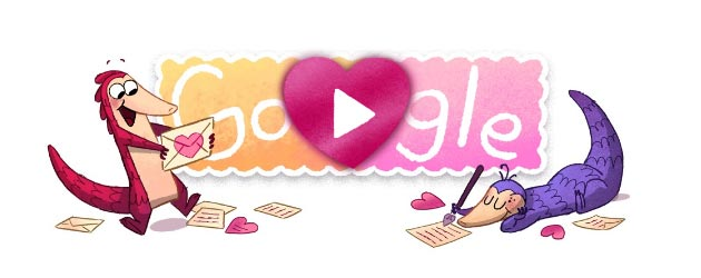 Google festeggia San Valentino con doodle dedicati ai Pangolini