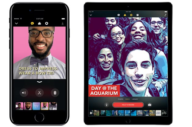 Apple presenta Clips, la nuova app social per i video