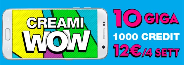 Poste Mobile Creami WoW: 10GB e 1000 Credit per 12 euro a rinnovo [offerta prorogata]