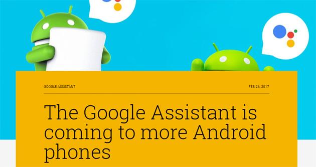 Google Assistant sui telefoni Android almeno Marshmallow