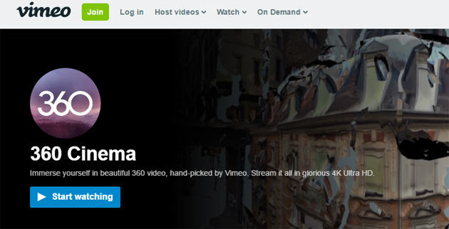 Vimeo supporta Video a 360 gradi