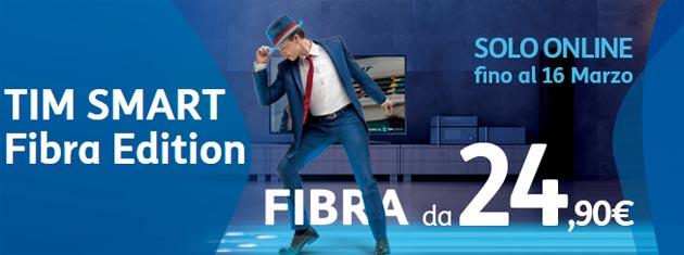 TIM SMART FIBRA EDITION: fino a 20Mega in tecnologia Fibra da 29,90 euro
