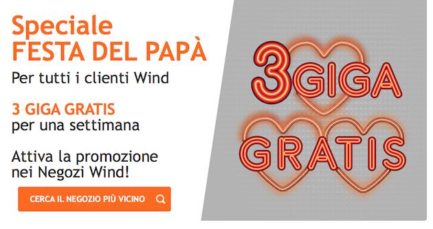 Wind regala 3GB di internet per una settimana fino al 19 Marzo