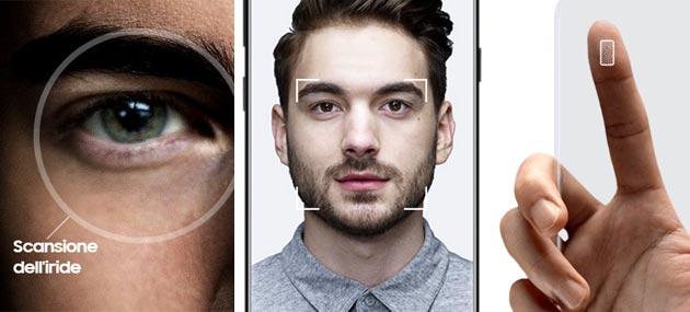 Samsung Galaxy S8: analisi Riconoscimento Volto e Scansione Iride