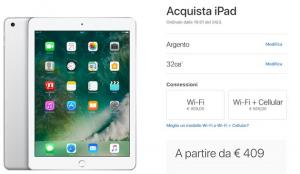 Apple iPad da 9,7 pollici sostituisce iPad Air 2, in Italia da 409 euro