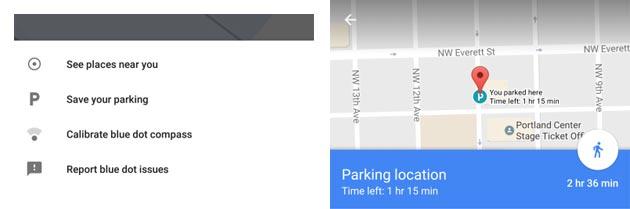 Google Maps salva posizione dell' Auto nel parcheggio per ritrovarla facilmente