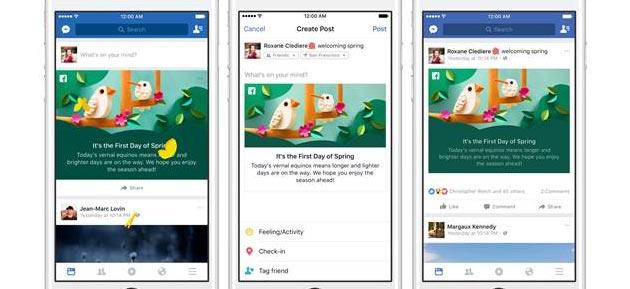 Facebook lancia Animazioni a Tema per Primavera