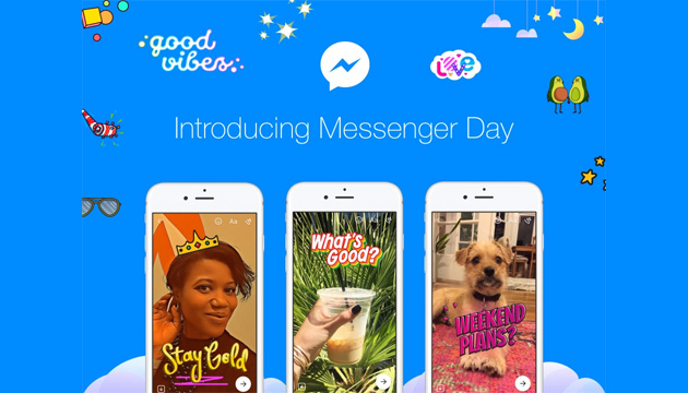 Facebook presenta Messenger Day: così le Storie arrivano in chat