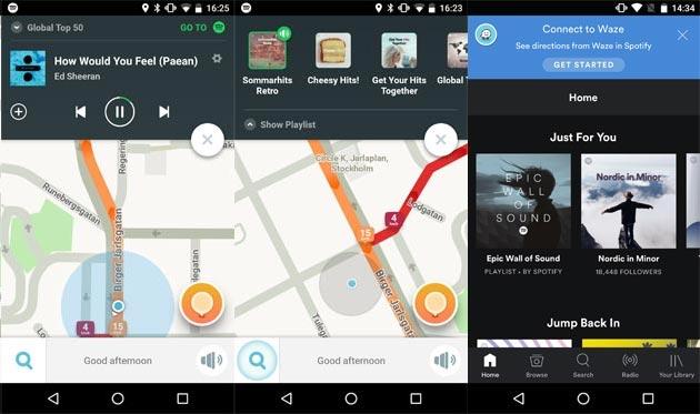 Waze e Spotify si uniscono offrendo servizi integrati