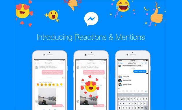 Messenger, Facebook attiva Menzioni e Reazioni col tasto Non mi Piace