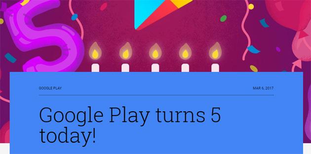 Google Play compie 5 anni