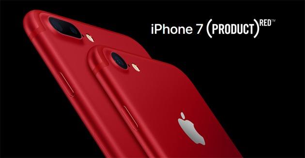 Apple iPhone 7 RED, edizione speciale in Rosso per buona causa