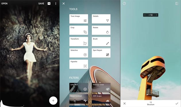 Google aggiorna Snapseed con Esposizione Doppia, Posa ed Espandi