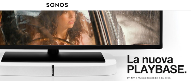 Sonos PlayBase, base per TV che migliora il suono e riproduce musica in streaming