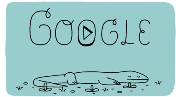 Il Parco nazionale di Komodo nel doodle di Google