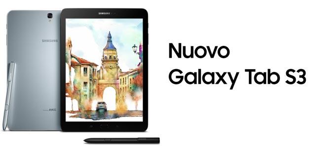Samsung Galaxy Tab S3 in Italia da 799 euro il modello 4G