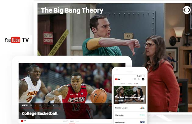 Youtube TV, la Internet TV di Google: come funziona, quanto costa