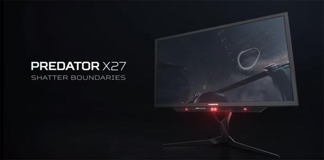 Acer, nuovi monitor Predator X27 e Predator Z271UV con Quantum Dot