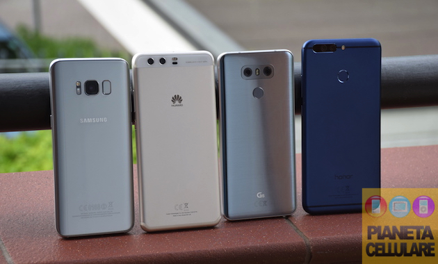 Samsung Galaxy S8 vs LG G6 vs Huawei P10 Plus vs Honor 8 Pro, il nostro confronto video