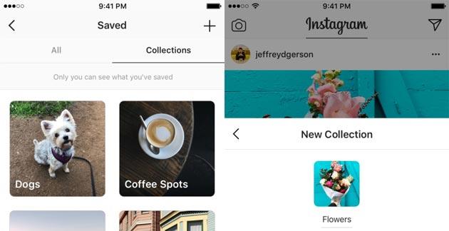 Instagram, come salvare e ordinare post in cartelle