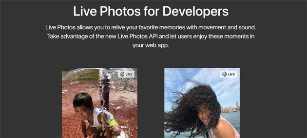 Apple Live Photos in qualsiasi sito web