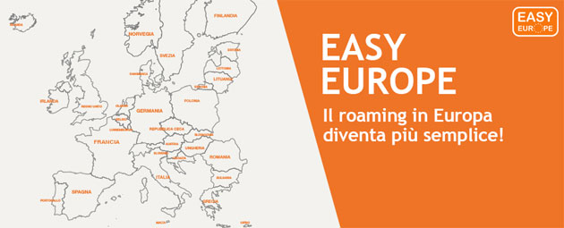 Easy Europe, Wind e 3 tagliano i costi extra del roaming in Europa