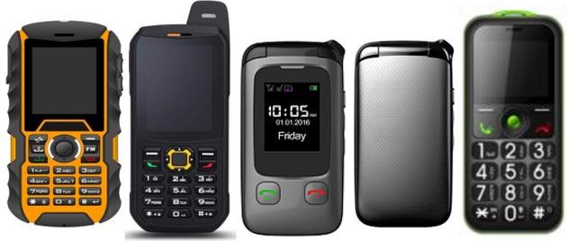 Onda: telefoni semplici Felice, Lino per anziani e rinforzati R100, R103 per ambienti di lavoro difficili