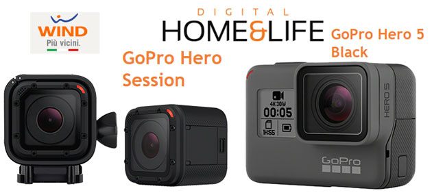 Wind vende GoPro HERO 5 Black e Session a prezzo scontato
