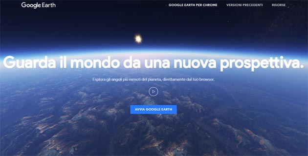 Google Earth nuovo su Web, Android e iOS