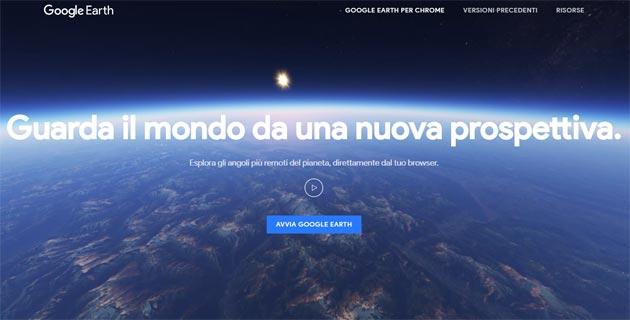 Google Earth nuovo su Web, Android e iOS