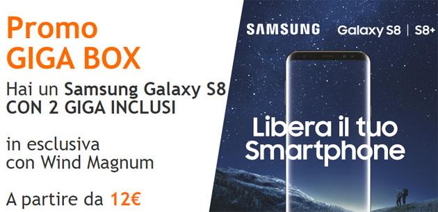 Wind Promo GIGA BOX con Samsung Galaxy S8 o S8+ [fino al 18 giugno]