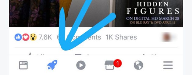 Facebook, a cosa serve icona del razzo