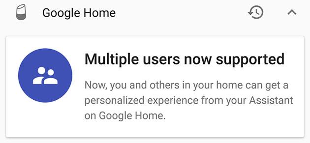 Google Home supporta piu' utenti, riconosce fino a sei voci