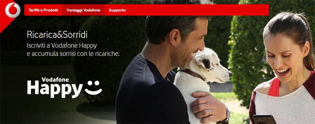 Vodafone Happy, 2a edizione del programma premia i clienti Vodafone ad ogni ricarica