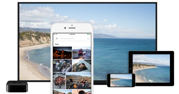 Foto Google Foto su iOS supporta Airplay