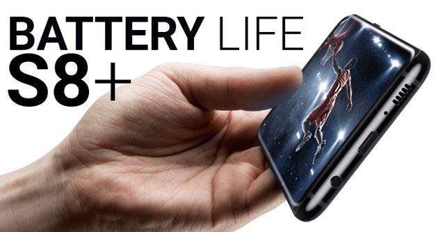 Samsung Galaxy S8+, test di durata batteria