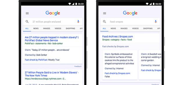 Fact Check, Google etichetta in News e Ricerca le Notizie Verificate