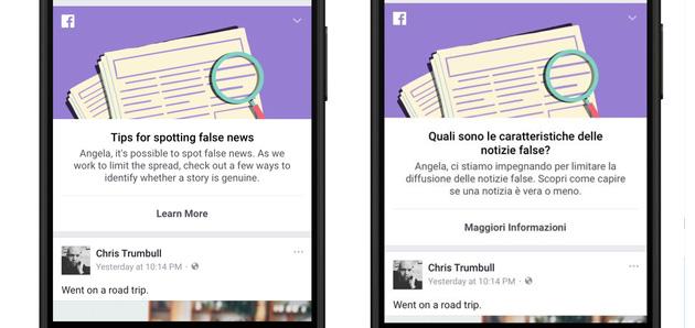 Facebook, guida per riconoscere le Notizie False