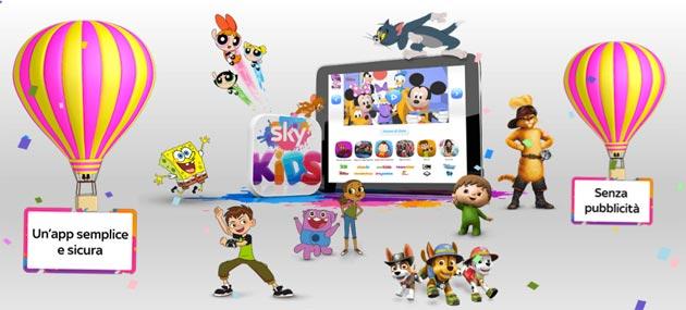 Sky Kids, app per Tablet dedicata ai bambini: cosa offre e quanto costa